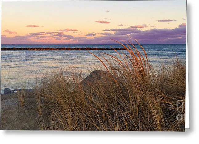 Greeting Card featuring the photograph Smugglers Beach Sunset by Michelle Wiarda