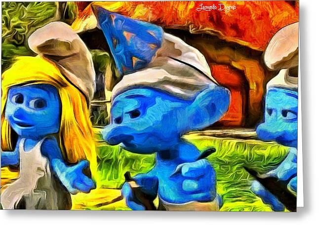Smurfette And Friends - Da Greeting Card