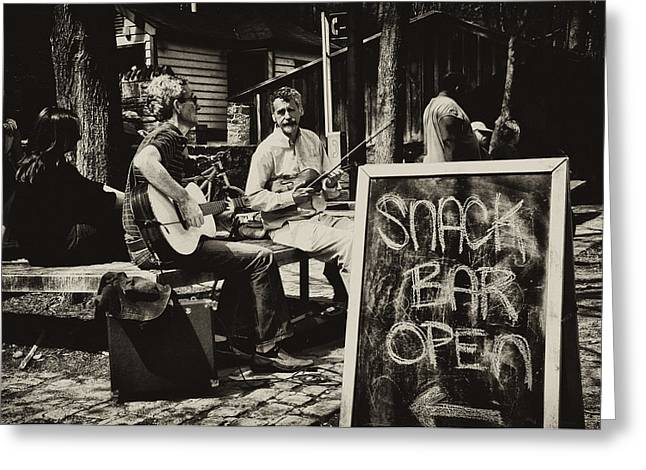 Snack Bar Open Greeting Card by Bill Cannon