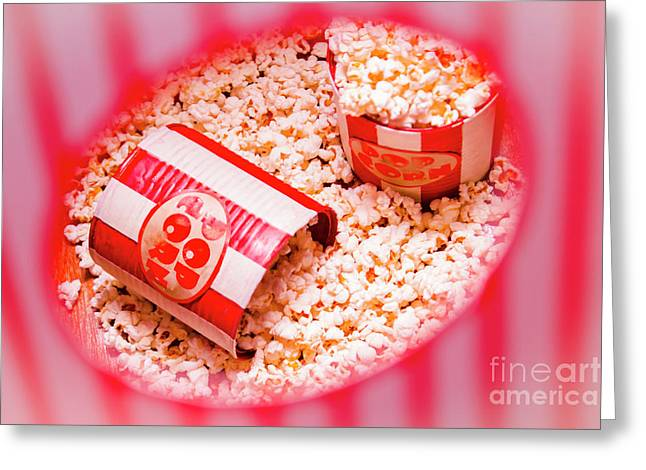 Snack Bar Pop Corn Greeting Card