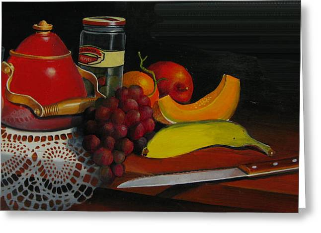 Snack Time Greeting Card by Robert Carver