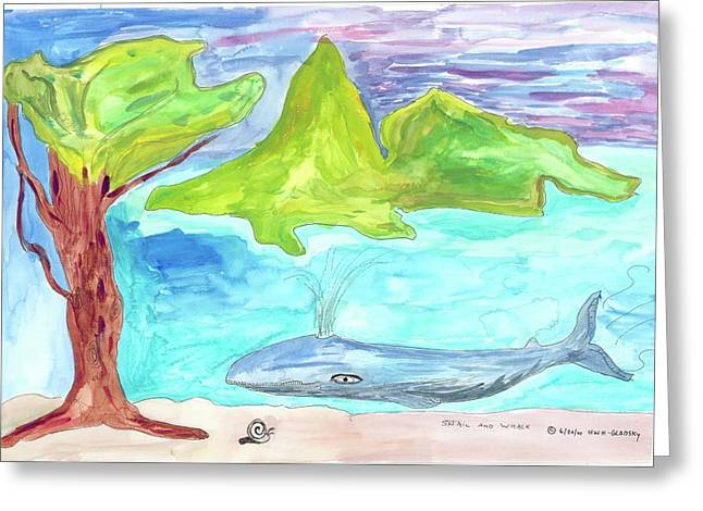 Snail And Whale Greeting Card
