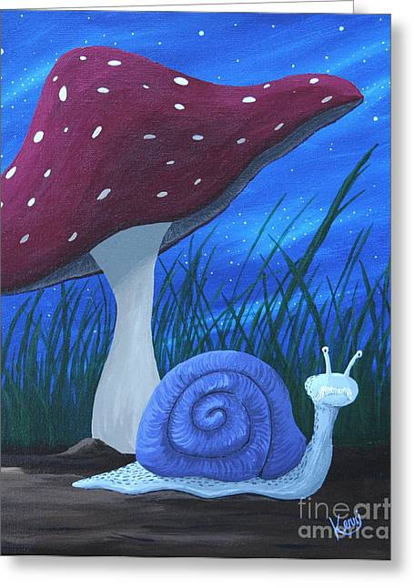 Snail Elliot Greeting Card
