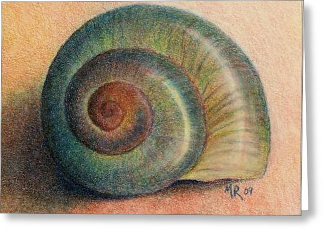 Snail Shell Greeting Card by Mary Rogers