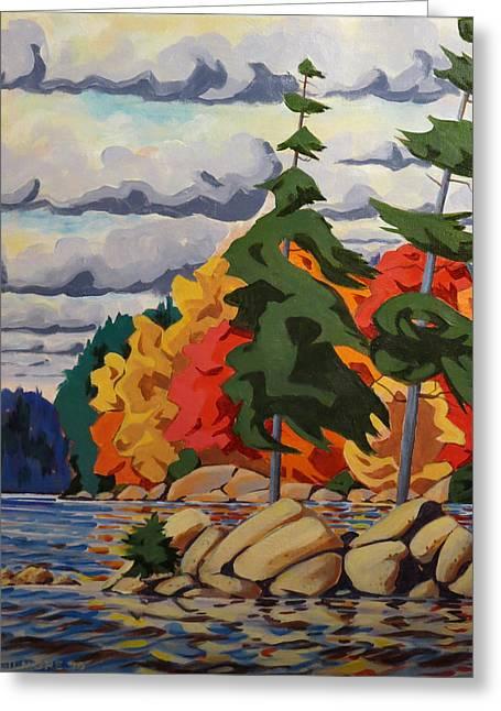 Snake Island In Fall-close Greeting Card