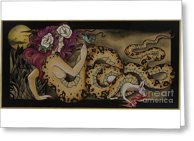Snake Lady Greeting Card