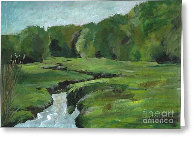 Snake Like Creek 2 Maine Greeting Card by Claire Gagnon