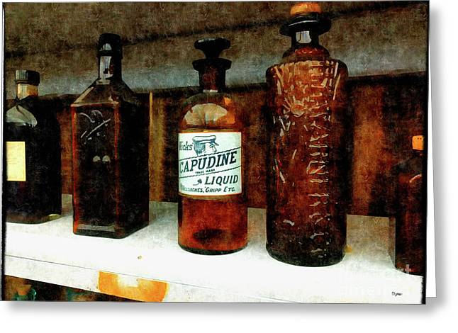 Snake Oil Cure All  Greeting Card by Steven Digman