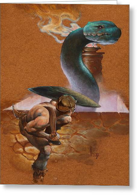 Snake Pit Greeting Card