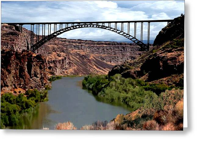 Snake River Canyon Greeting Card by Ron Chambers