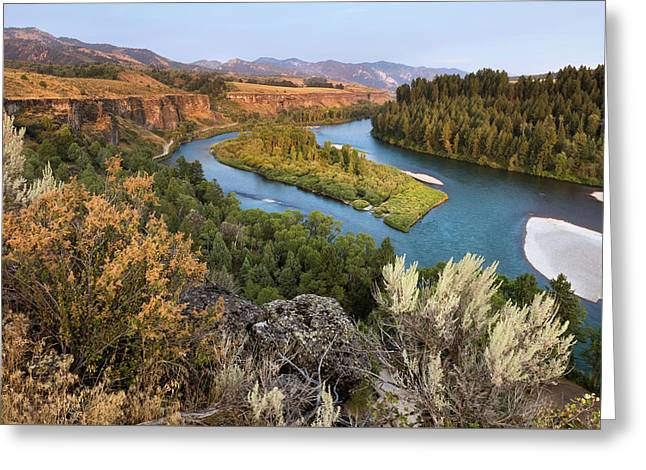 Snake River - Heise Road Greeting Card by David Halter