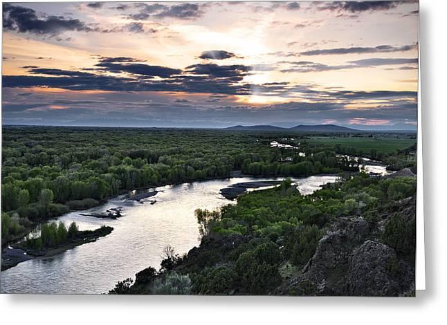 Snake River Greeting Card by Leland D Howard