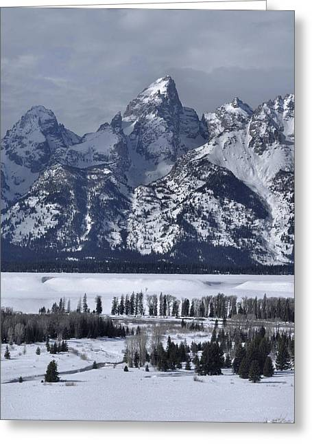 Snake River Overlook In Winter Greeting Card by Stephen  Vecchiotti