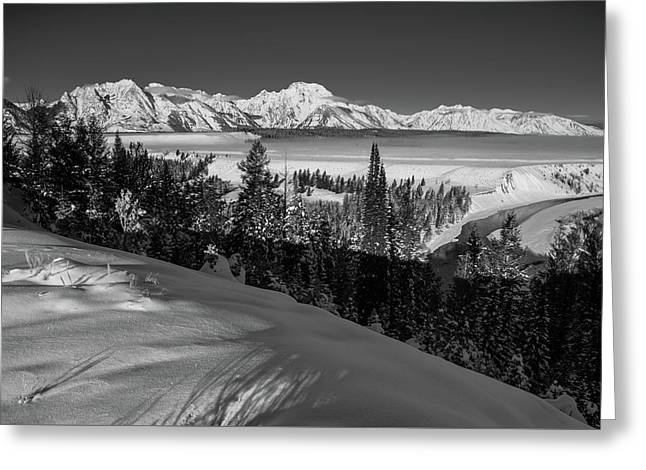Snake River Overlook-winter Scene 79 Greeting Card