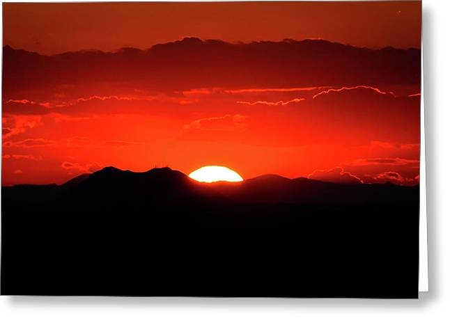 Snake River Plain Sunset Greeting Card by Greg Norrell