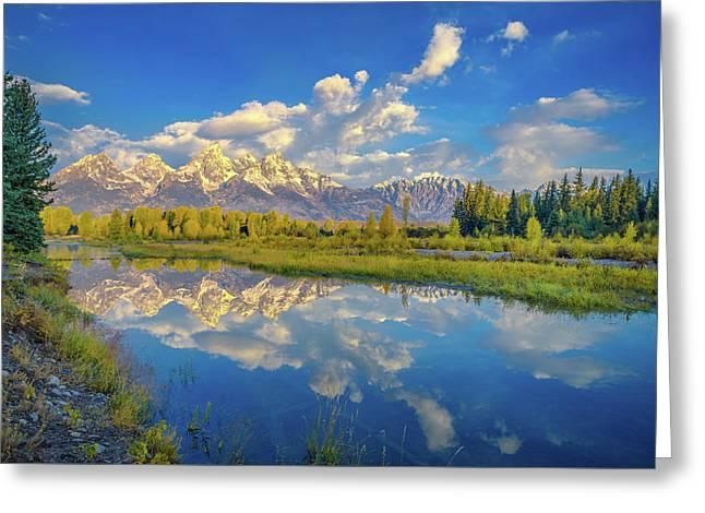 Snake River Reflection Grand Teton Greeting Card
