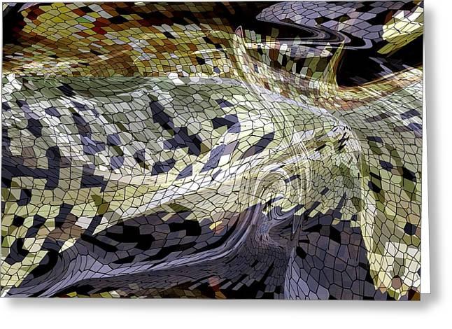 Snake Skin Tile Greeting Card