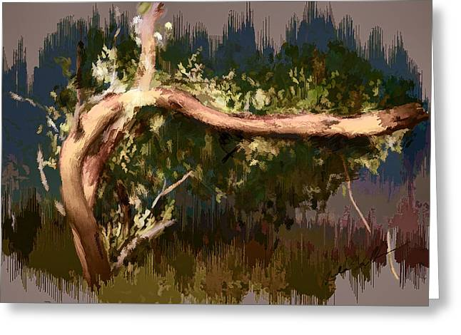 Greeting Card featuring the digital art Snake Tree by Dale Stillman