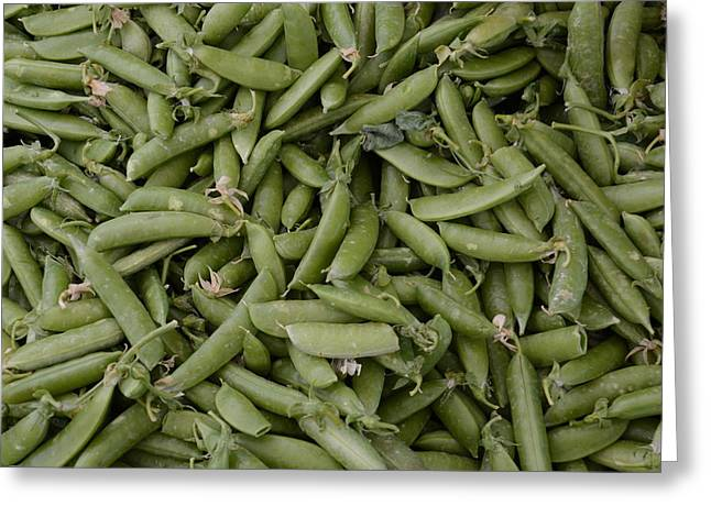 Snap Peas Greeting Card