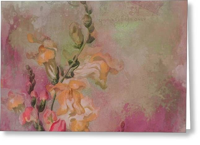Snapdragon Greeting Card by Jeff Burgess