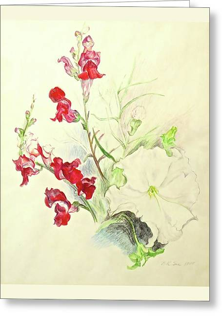 Snapdragon Rising Greeting Card by Bonnie See