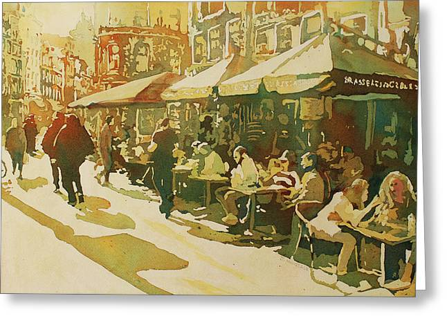 Snapshot Cafe Greeting Card by Jenny Armitage