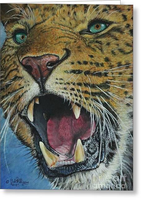 Snarl...amur Leopard Greeting Card