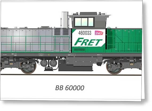 Sncf Bb 60000 Diesel Electric Locomotive Greeting Card