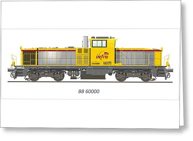 Sncf Infra Bb 60000 Diesel Electric Locomotive Greeting Card