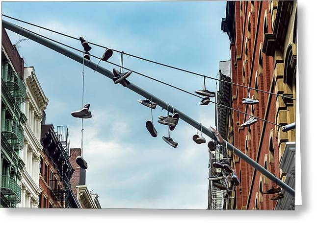 Sneakers From Up Above Greeting Card