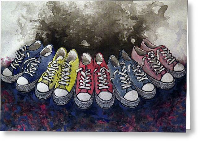 Sneakers Shoes Greeting Card