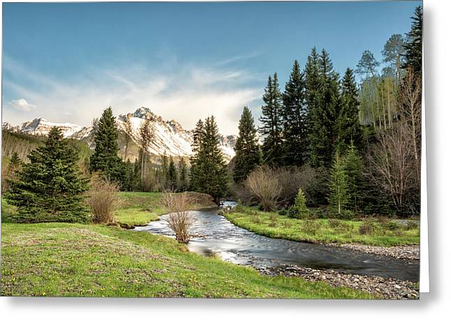 Sneffels And Spring Stream Greeting Card
