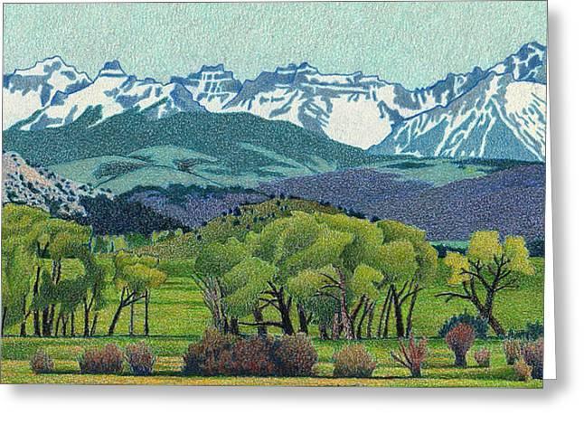 Sneffels Range Spring Greeting Card by Dan Miller