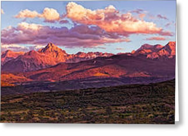 Sneffel's Range Sunset Greeting Card