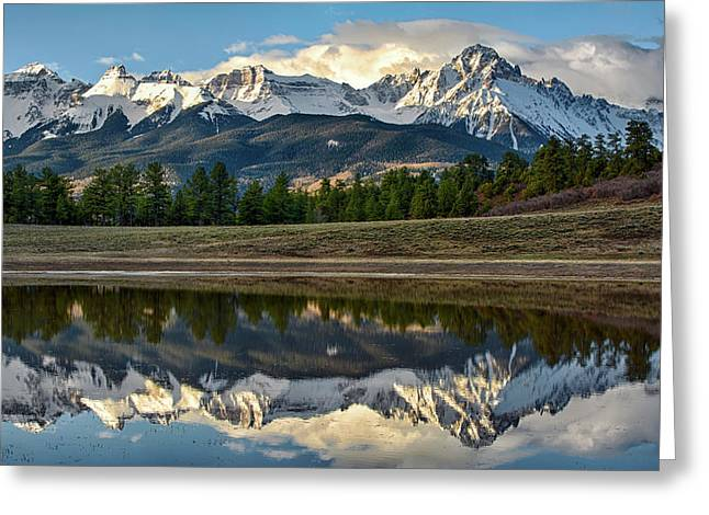 Sneffels Reflected Greeting Card