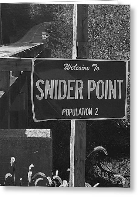 Snider Point Greeting Card by William Furguson