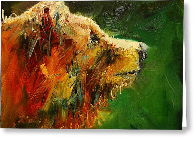 Sniffing For Food Bear Greeting Card by Diane Whitehead