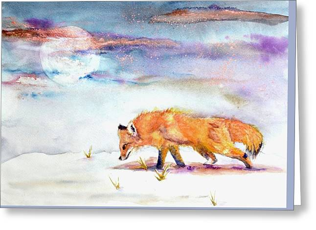 Sniffing Out Some Magic Greeting Card by Beverley Harper Tinsley