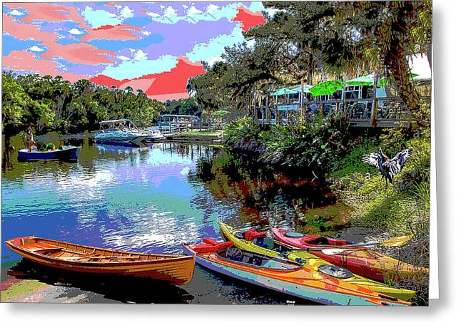 Snook Haven Greeting Card by Charles Shoup