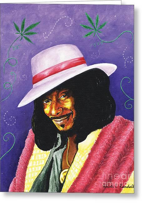 Snoop Dogg Greeting Card by Kristi L Randall