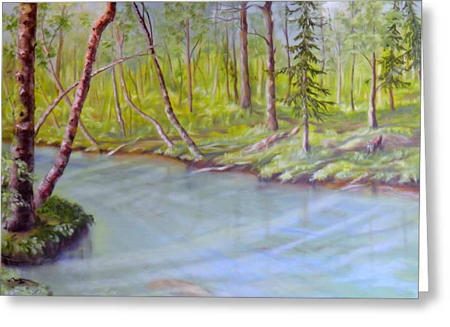Snootli Creek Greeting Card by Ida Eriksen