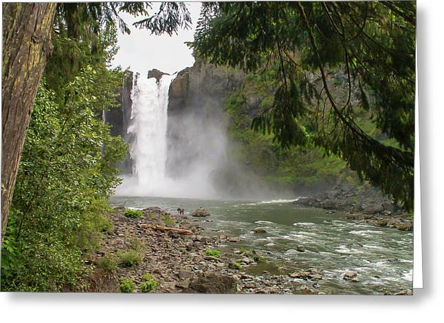 Snoqualmie Falls From Below Greeting Card