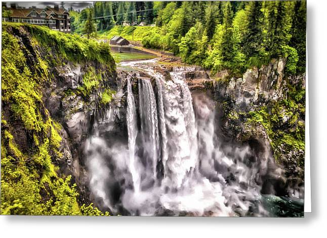 Snoqualmie Falls  Greeting Card by Matthew Ahola