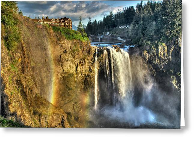 Snoqualmie Falls, Washington Greeting Card by Greg Sigrist