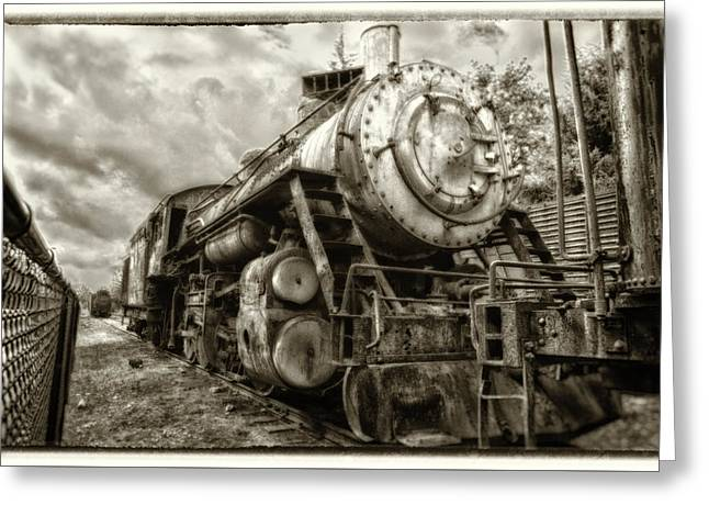 Snoqualmie Locomotive Greeting Card by Matthew Ahola