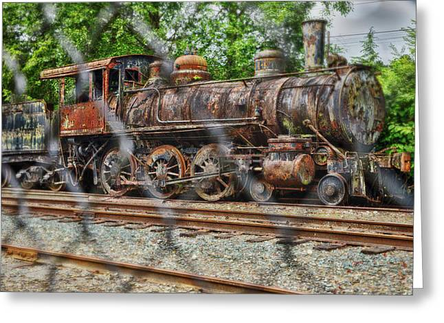Snoqualmie Locomotive Two Greeting Card by Matthew Ahola