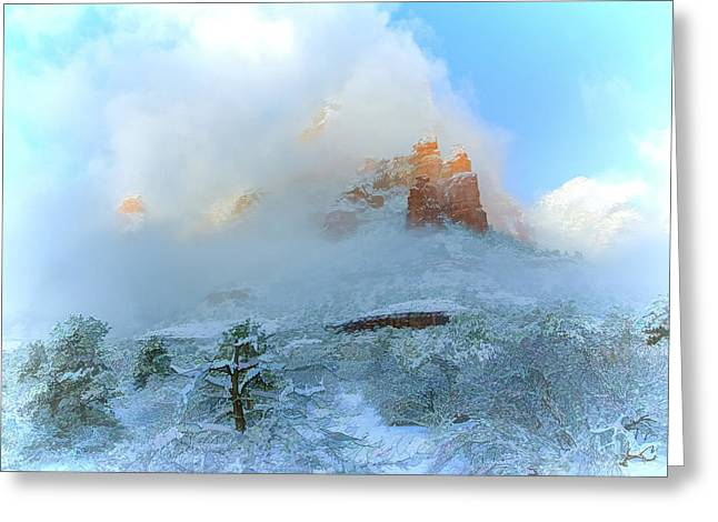 Snow 07-104 Greeting Card by Scott McAllister