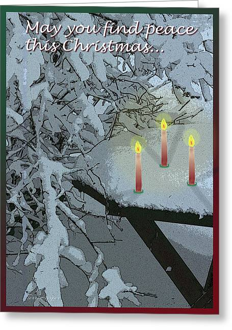 Snow And Candlelight Greeting Card