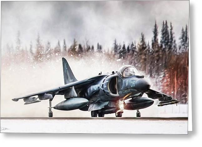 Snow Angel Harrier Greeting Card by Peter Chilelli