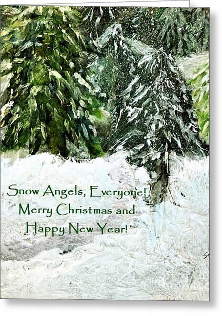 Snow Angels Everyone Greeting Card